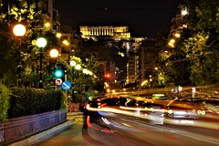 Athens lights (Artemios Karavas) Tags: athens artemiosphotos attica akropolis architecture ancient town e road red traffic streetphotography street city urban building light night lighttrails longexposure color photography beautiful πατησίων