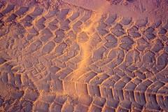 Sunset And Chrome (Doha Sam) Tags: 400 agfa ambisilette analogue chrome coolscan9000ed desert dunes film inlandsea kodak linearscan manualexposure manualfocus negative newportra nikon nikonscan offroad portra400 qatar samagnew scan southerndesert wilderness iso400 smashandgrabphotocom wwwsamagnewcom