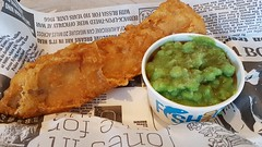 Cod & Mushy Peas, Wolfies, Hove. (ManOfYorkshire) Tags: cod fish fishchips mushy peas meal food dinner wolfies hove brightonhove sussex