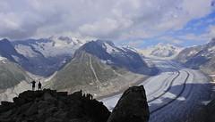 Vista del Aletsch (Mono Andes) Tags: alpes alps glaciar glacier aletsch suiza schweiz patrimoniodelahumanidad worldheritage valais