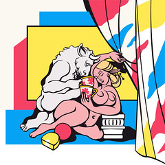 Tea break (Monich Alexander) Tags: tea break party teabreak teaparty teafight bunfight kettledrum cup cups meal minotaur greek mythology antion sex sexy sexual porno porn nude naked nudity nipples woman man bull hot handsome illustration illustrator vector monich brest breast монич александр минск беларусь minsk belarus alexander ancient bullheaded creature minos crete pablo ruiz picasso art modern pop con contemporary suite vollard minotauro atacando una amazona horsewoman amazon speedy graphito la femme au divan fairy fairytales