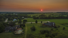 Marengo Illinois Sunset. (Samuel Fowler) Tags: marengoillinois marengo evo autelevo sunset aerial illinois
