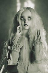 ghost's prayer (dolls of milena) Tags: bjd abjd resin doll supia rosy ghost dark portrait