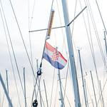 Croatian flag on sailboat thumbnail