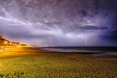 Lightning Storm Over Bournemouth 21st April 2018 (mpelleymounter) Tags: lightning thunderstorm lightningstorm forklightning beach alumchine bournemouth bournemouthseafront storm nighttimestorm longexposure wwwphotomarkscouk markpelleymounter clouds dorsetseascape doresetnightscape dorsetlandcape