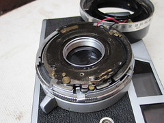 Canonet ql19 old (zaphad1) Tags: canonet ql19 ql 19 old type style repair lens disassembly shutter oiling stuck jammed aperturembly creative commons free photo