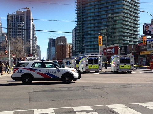 Toronto and York Region police EMS and fire response