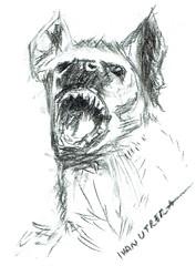 hiena a carboncillo (ivanutrera) Tags: hiena carboncillo charcoal animal wild wildlife sketch sketching draw dibujo canino