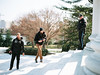 Threes Company (Andrew H Wagner | AHWagner Photo) Tags: mamiya645protl mamiya645 mamiya 645 mediumformat mediumformatcamera camera filmcamera film mamiya8019 mamiya80mmf19n 80mm19 80mmf19 120 120film thefindlab grain grainy filmgrain analog filmshooters find filmphotography analogfilm colorflm colorfilmnegative negativefilm streetphotography street washington dc washingtondc districtofcolumbia jeffersonmemorial memorial portrait people secretservice candid photographer photographers bokeh dof portra160 kodak kodakportra kodakportra160 portra