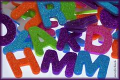Plastic (monforklick) Tags: plastic macromonday buchstaben glitzer macro hmm