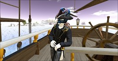 Captain Fox ! (cuuka) Tags: firestorm secondlife cuuka kushino venus ship boat french france corvette nk navire 3 mats mat voile voiles sail sailing learn learning naviguate old big canons red sun outfit tenue pirate corsaire capitaine captain secondlife:region=cividale secondlife:parcel=coastalwaterway secondlife:x=47 secondlife:y=197 secondlife:z=25