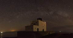 The Milkyway Arcs over Stag Rock Lighthouse, Bamburgh, Northumberland, England. (Mark240590) Tags: landscape seascape lighthouse astrophotography astronomy milkyway stars