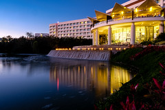 A Night at Grand Luxxe (trevormarron) Tags: resort mexico long exposure longexposure nd ndfilter 10stop night sunset dusk lake fountain