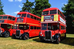 RT Types (PD3.) Tags: kyy652 kyy 652 nle882 nle 882 aec regent london transport bus buses psv pcv hampshire hants england uk alton anstey park mid railway watercressline water cress line preserved vintage 15 07 2018 july rally running day