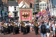 Durham Miners' Gala 2018 (Cerdic Elesing) Tags: kodakektar bass banner num marching burnhopelodge performing countydurham durhamminersassociation durham england gala object xequals unitedkingdom gb