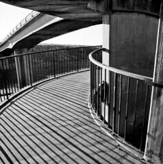 Curves & Lines (Michael J Lawlor) Tags: m4 langley junction5 bridge monochrome bw blackwhite blackandwhite shadows architecturaldetails architecture olympusom1 zuikoom1850 trix