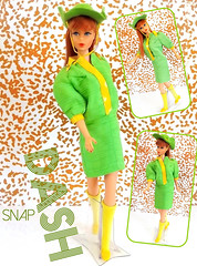 SNAP DASH! (ModBarbieLover) Tags: snap dash barbie tnt twist turn titian redhead safari 1968 vintage fashion doll mattel cowboy green yellow 1967