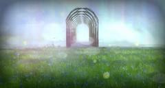 I Will Lay Me Down (Loegan Magic) Tags: secondlife lostunicorn field grass sky bridge water loss grief saddness