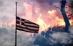 Pray for Greece (Spotter_CY) Tags: disaster fire attica athens mati greece wildfires πυρκαγιέσ αττική greek flag mourn μάτι forest hellas hellenic tragedy ελλάδα grecia grece griechland europe cross pray греция rescue