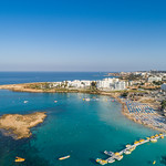 Aerial of Fig Tree beach Protaras thumbnail