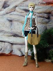 Boho Days – the black shorts (Levitation_inc.) Tags: ooak doll dolls clothes handmade fashion fashions royalty nuface integrity toys levitationfashion etsy barbie barbiestyle poppy parker summer boho 2018