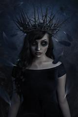 Crowned (Wurmwood Photography) Tags: female beauty lovely blue dark goth gothic gothgirl woman creative fantasy ethereal manipulation nikon godox fovitec darkart altmodel