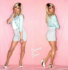 Denim Duo (jessicajane9) Tags: tg crossdresser transgender cd tgurl transvestite feminization tv crossdressing trans m2f tgirl xdress tranny crossdress skirt heels
