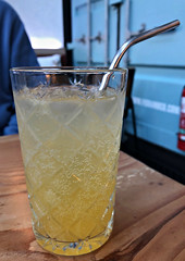 2018 Fish & Co lunch: Passionfruit Soda (dominotic) Tags: 2018 food drinks meal lunch fishcosustainablefishlunch passionfruitsoda yᑌᗰᗰy tramshedsharoldpark iphone8 sydney australia