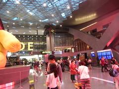 Hamed International Airport, Doha, Qatar  2018, atrium (d.kevan) Tags: qatar doha hamedinternationalairport airports people bears animals sculptures ceilings