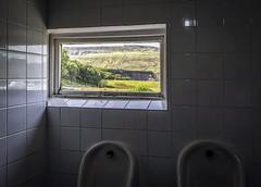 Loo with a view (robmcrorie) Tags: station inn ribblehead viaduct loo view urinal duchamp marcel class 158 sprinter northern rail window fly tile train railway settle carlisle yorkshire railfan