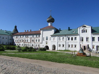 in the yard of Solovetsky monastery