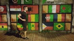 ANCONA. INTEGRAZIONE. (FRANCO600D) Tags: bandiere integrazione dignità murale passante notturno immigrati ancona an smartphone samsung note4 franco600d