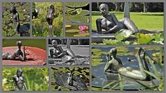 Sunbathing in the garden (wilma HW61) Tags: collage photoborder beeld beeldentuin statue stature kunst art arte sculpturegarden sculpture garden tuin jardin giardino garten beeldentuinmariënheem mariënheem overijssel nederland niederlande netherlands nikond90 holland holanda paysbas paesibassi paísesbajos europa europe été zomer summer wilmahw61 wilmawesterhoud sculptuur scultura outdoor wow