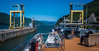 2018 - Romania - Serbia - Danube River - Iron Gate 1 - Exiting the Upper Lock