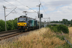 88005 Kingsthorpe 220718 (Dan86401) Tags: wilsonscrossing kingsthorpe northampton wcml 88005 class88 vossloh ukdual eurolight eurodual drs directrailservices stadler electric 5z20 ecs emptystock