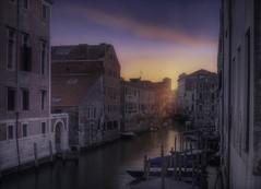 Venetian paths 99(Rio dei Gesuiti Cannareggio) (Maurizio Fecchio) Tags: venice venezia longexposure sunset city cityscape boats sky street travel tramonto tranquility colors building
