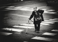 untitled--249 (Stevenchen912) Tags: streetphoto streetscene streetfavorites streetportrait alone decisivemoment decisive composition contrast blackwhite bw geometry lines old woman candid urbanstreet urbanlife