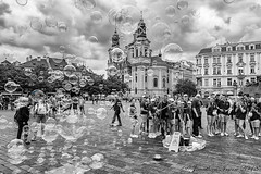 Prague Bubbles_ B&W_IMG_1766 (Jonathan Irwin Photography) Tags: prague bubbles