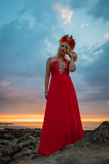 Beach Sunset Shoot India July 2018-8 (Philip Gillespie) Tags: edinburgh scotland gullane beach sunset sun evening models girls women posing sand sea sky clouds silhouette blond young amateur powder smoke lights soft guns umbrellas flash beautiful lovely canon 5dsr outdoors outside nature natural pose hair hands feet legs arms face head fashion dress shorts trousers skirts hats cave orange red blue green yellow fill dark night rocks coast coastline warm shore seaweed portrait india