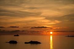 Making Port (langdon10) Tags: haugesund northsea norway sunset rock ship shoreline