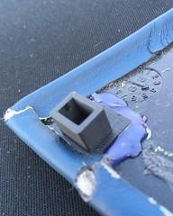 Fixing broken panel: 3D printed repair part (Pim Stouten) Tags: interior interiör interieur z3 roadster bmw e36 leather leer leder 3dprint