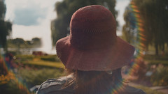 Entering The Magical Botanical Garden (Jovan Jimenez) Tags: sony a6500 metabones speedbooster ultra vivitar series 1 3585mm fuji superior 200 lut one alpha ilce 6500 magical botanical garden bokeh flare girl hat summer cinematic portrait