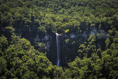 View from afar. (Pablin79) Tags: tree scenery greenery picturesque water waterfall green trees forest summer scenic outdoors light natural rocks saltoencantado argentina misiones aristobulodelvalle shadows longexposure