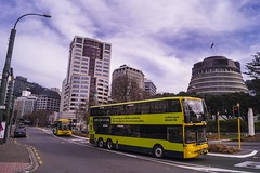 Wellington (andrewsurgenor) Tags: transit transport publictransport bus wellington nz streetscenes buses omnibus yellow busse citytransport city urban newzealand