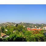 Kandy Lake and Kandy city aerial panoramic view from Arthur's Seat Kandy City Viewpoint, Sri Lanka thumbnail