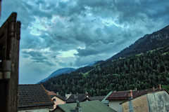 Thunder is coming (Tripl3 D) Tags: wolken clouds bergen mountains bomen trees gebouwen buildings swiss alps alpen zwitsere zwitserland suisse switzerland gotthard san gottardo hdr canon canoneos650d eos 650d donder thunder