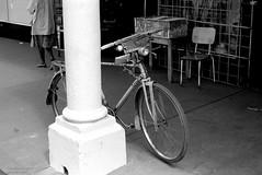 Africa bike (Drehscheibe) Tags: hp5plus 35mmfilm nikonf2 bicycle blackwhite analogica ilford