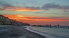 Happisburgh (Geoffrey Tibbenham) Tags: happisburgh norfolk northnorfolk coast sky sunset sand seaside seascape groynes shingle cliffs 6stop longexposure erosion fuji 1855mm outdoor openspace tripod beach