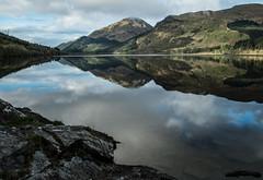 Secret Loch - Loch Eck 2017 (GOR44Photographic@Gmail.com) Tags: clachbheinn loch eck argyll cowal scotland mirror glass reflection water hills trees cloud rocks gor44 fujifilm xpro1 xf18mmf2 sunlight