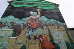 Bodø Wall Art (Geoff Buck) Tags: norway lofoten island bodø wall art wallart northerlights